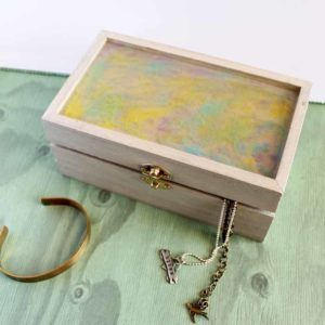 Marbled Resin Jewelry Box
