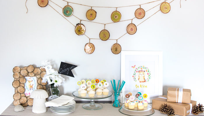 Woodland Nursery Decor: Wood Slice Garland with Resin