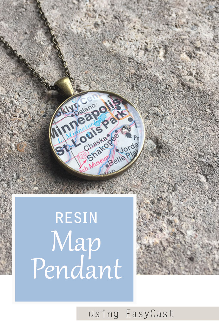 Resin Map Pendant - full tutorial to make a customized personal map pendant using EasyCast Clear Casting Epoxy Resin