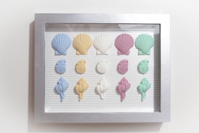 Resin Seashell Wall Art - completed wall art
