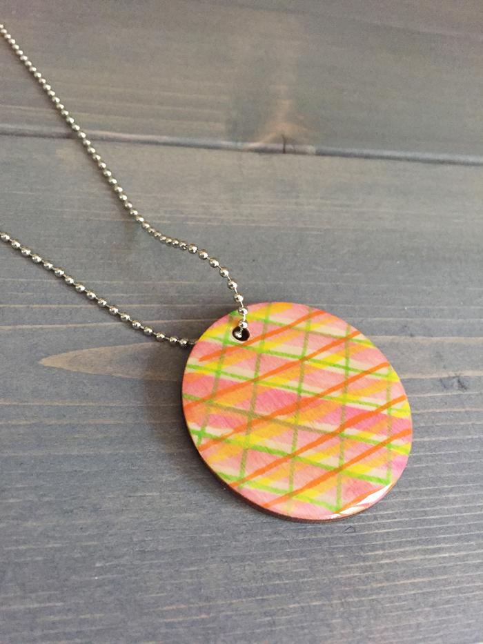 Shiny Wood Cutouts - Finished Necklace1