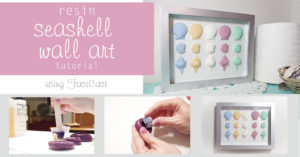 Resin Seashell Wall Art using FastCast