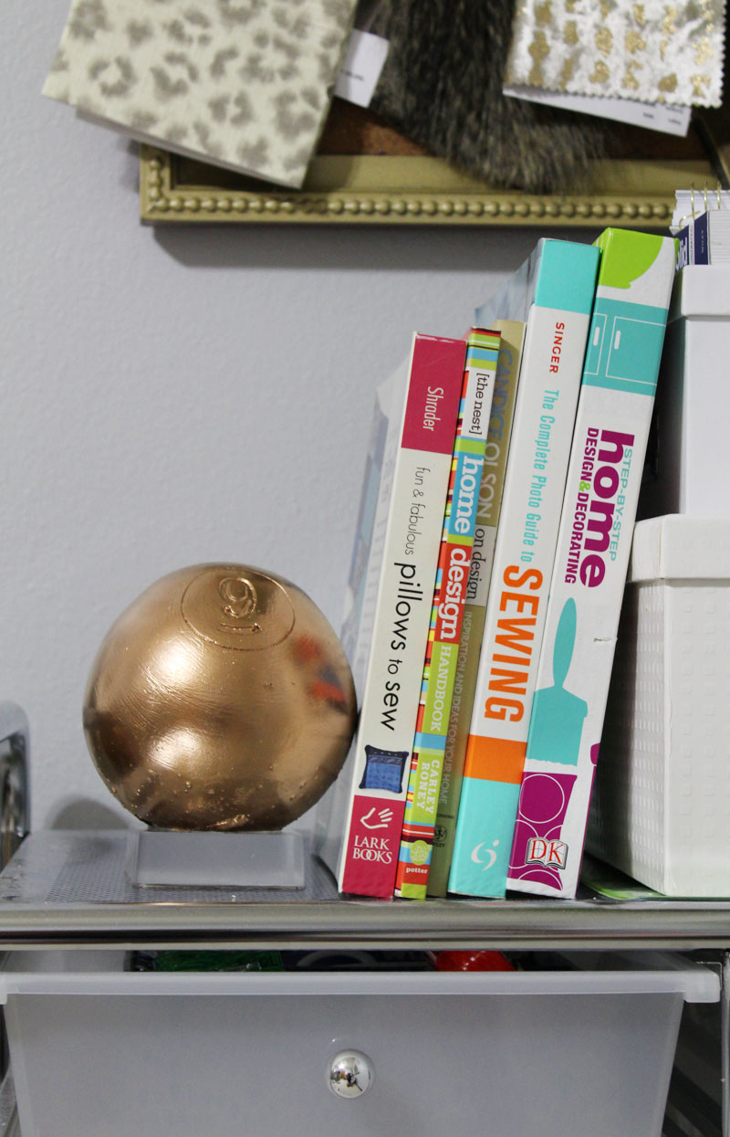 acrylic bookend | lucite bookend | acrylic DIY | lucite DIY | bookend DIY | acrylic home accessories | acrylic home decor | clear home decor | lucite home accessories | lucite home decor | resin home decor | resin decor | lucite decor | acrylic decor | silicone rubber | make a mold | clear resin | Using an Oversized Wood Pool Ball to Make a Lucite Inspired Bookend