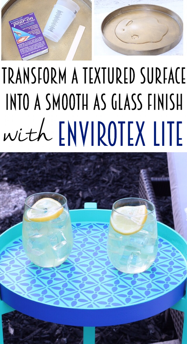 Easily smooth and level a textured surface with Envirotex Lite