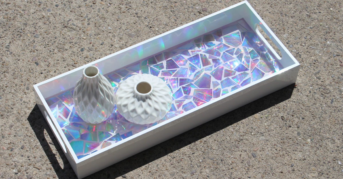 Dvd Mosaic High Gloss Resin Tray - Resin Crafts - Diy Crafts