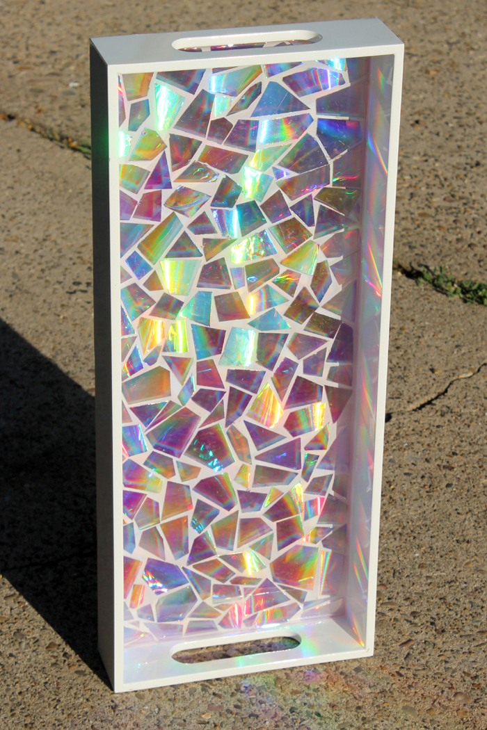 Dvd mosaic high gloss resin tray resin crafts for Mosaic tiles for craft