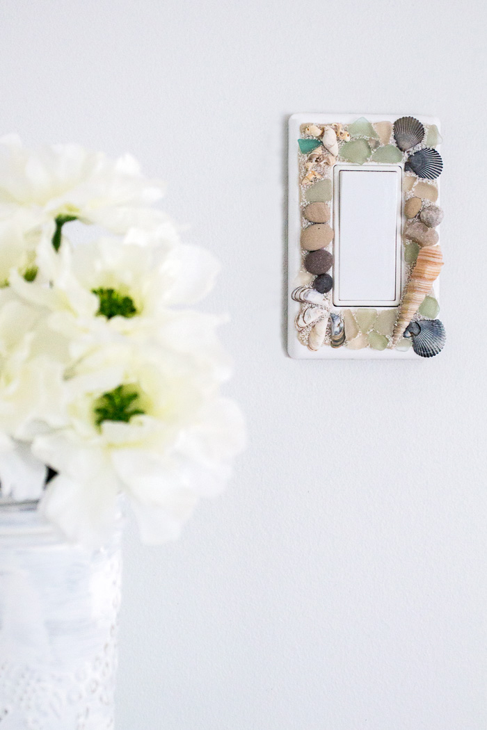 learn how to make your own beachy decorative switch plates with sea glass stones and - Decorative Switch Plates