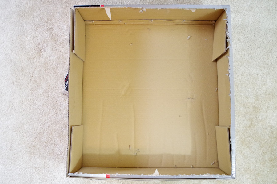 Poured Resin Wall Art - large box to catch excess resin