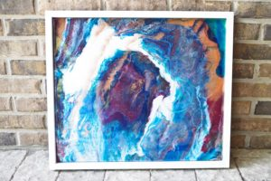 DIY Colorful Poured Resin Wall Art