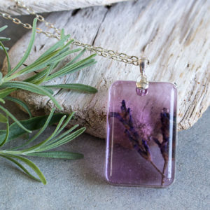 DIY Lavender Flower Pendant with EnviroTex Jewelry Resin