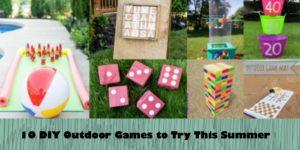 Fun DIY Outdoor Games