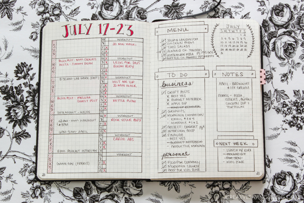 Bullet Journal Ideas | Organization |Resin Crafts | Bullet Journal Hacks | Project Organization | Diet Planning | Meal Prepping
