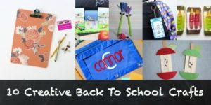 10 Creative Back to School Crafts
