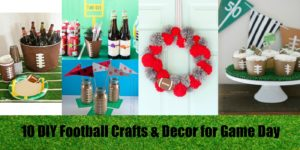 Resin Crafts | DIY Crafts | DIY Decor | Football Decor | Football Crafts | Football Parties | Superbowl Crafts |