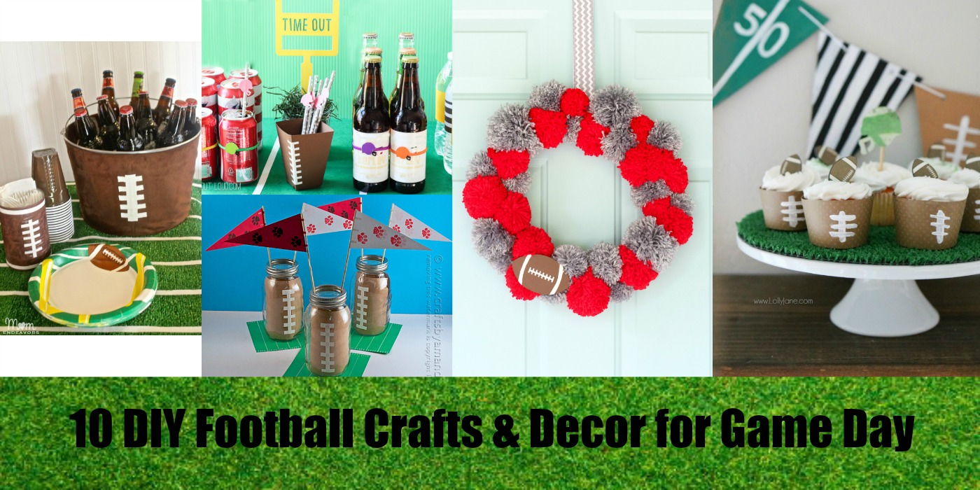 10 DIY Football Crafts & Decor for Game Day - Resin Crafts