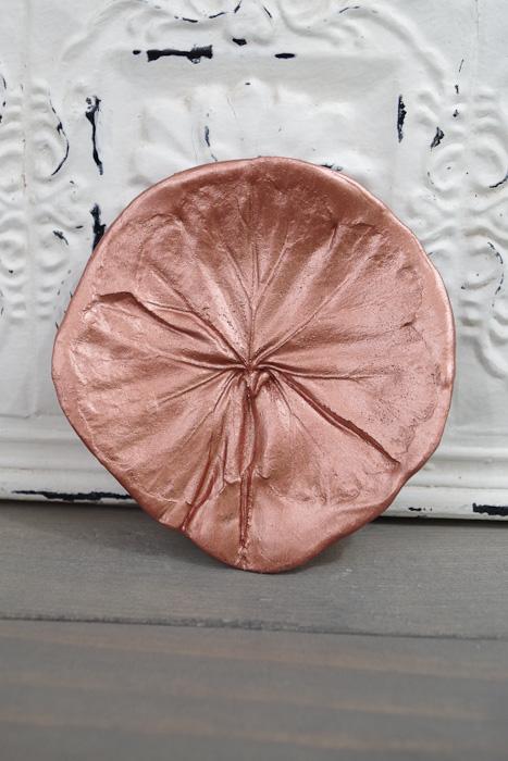DIY Leaf Imprint Clay dish- clover leaf dish
