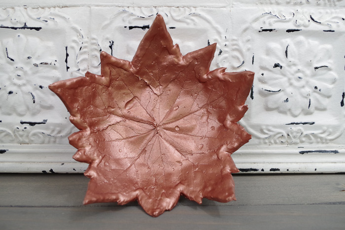 DIY Leaf Imprint Clay Bowls- multi leaf bowl