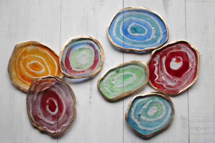 Agate Slices Made With Clear Polyester Resin Diy Resin