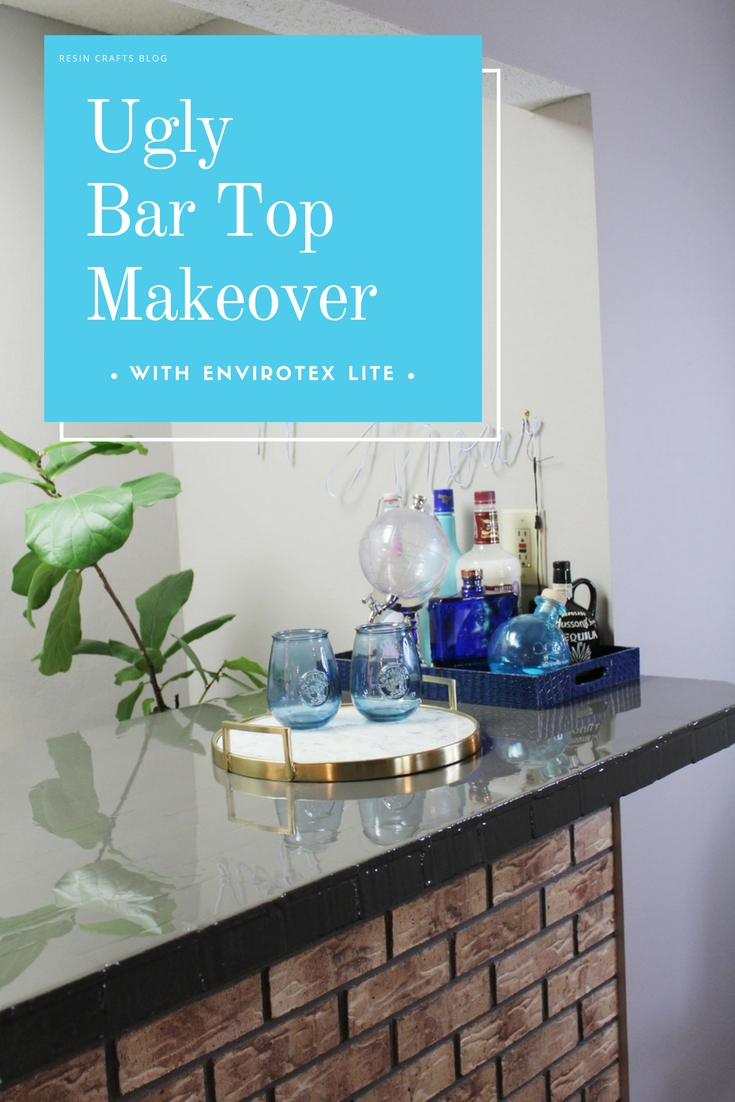 High Gloss Bar Top Makeover Whitney J Decor Interior Design Decorating Diy Projects Charcoal Gray Envirotex Lite Bartop Home