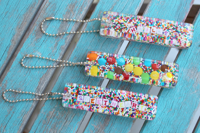 Candy Sprinkles Resin Keychain Diy Resin Crafts