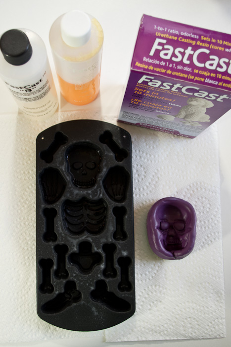 Resin Halloween decorations - supplies needed for framed skeleton