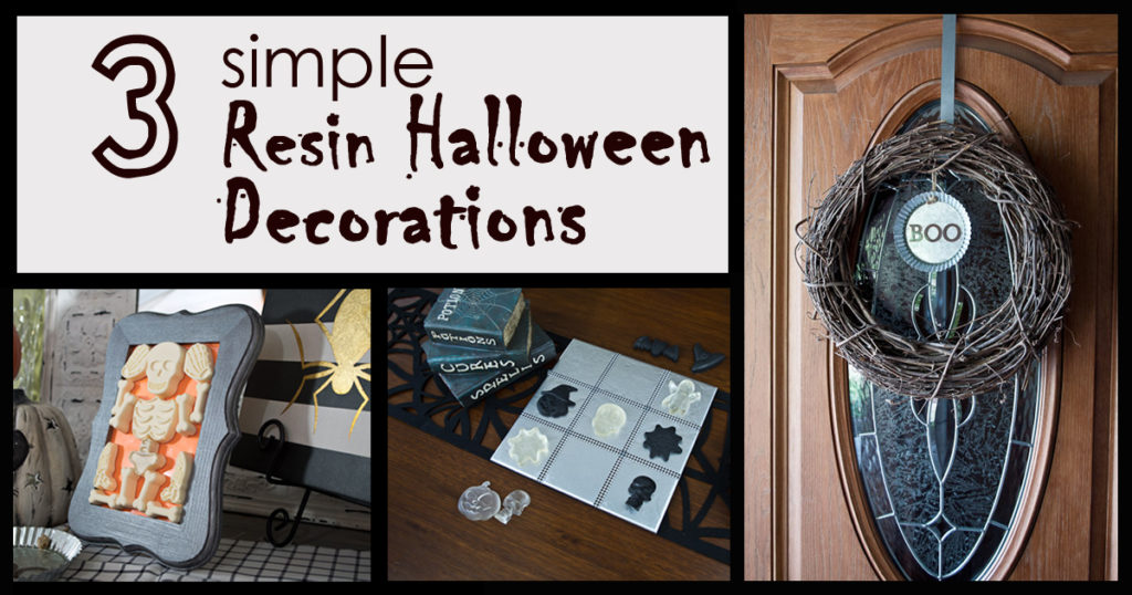 resin halloween decorations - social media image