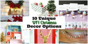 10 Unique DIY Christmas Decor Options