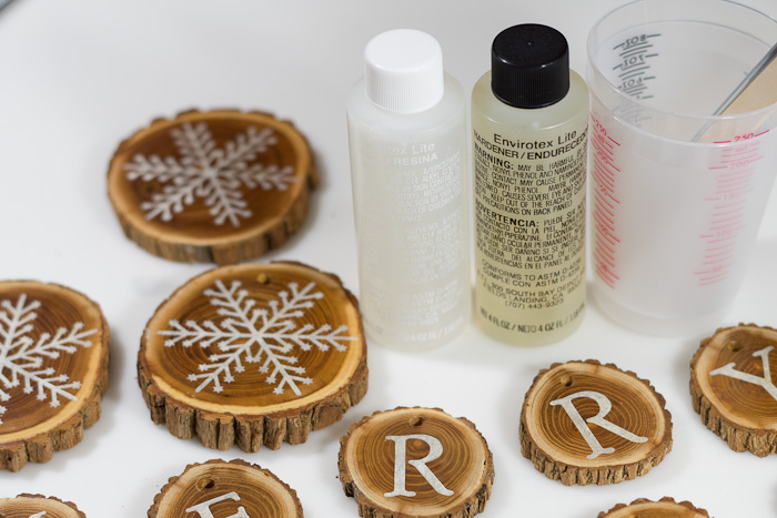 Resin Coated Merry Christmas Wood Slice Garland supplies for coating with envirotex lite resin