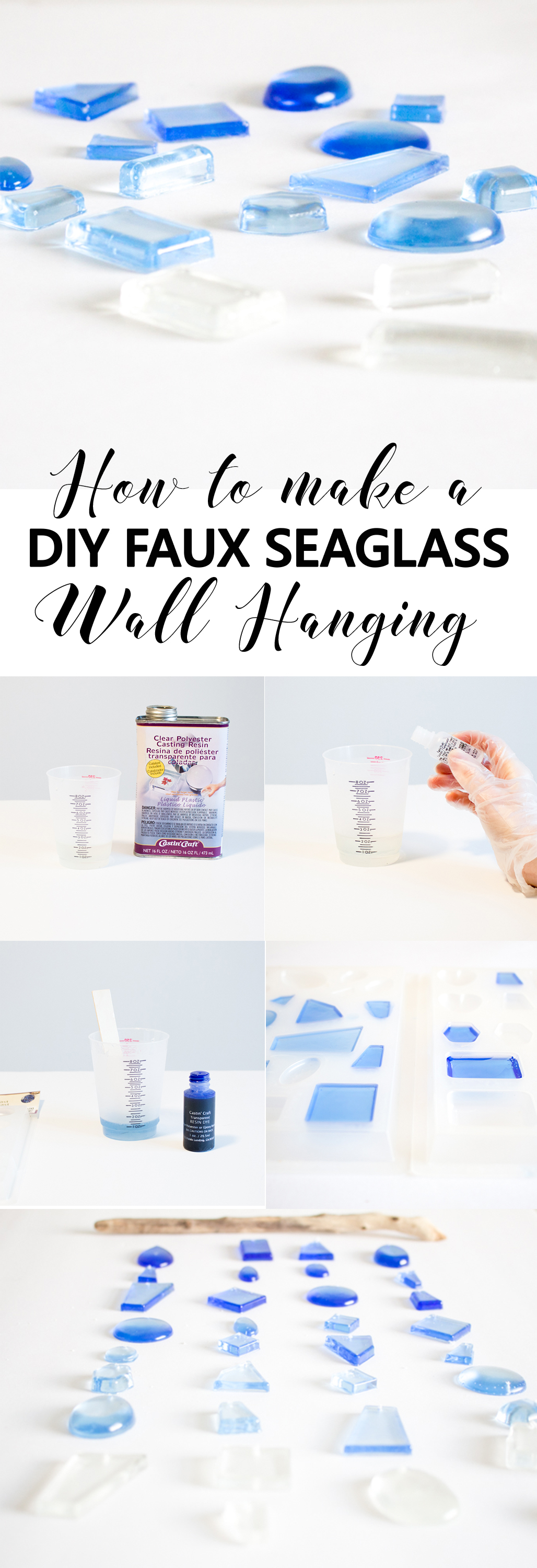 diy faux seaglass