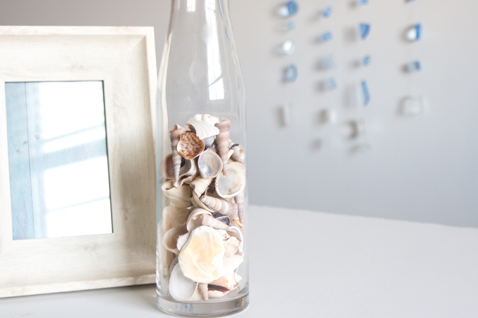 diy faux seaglass hanging charms