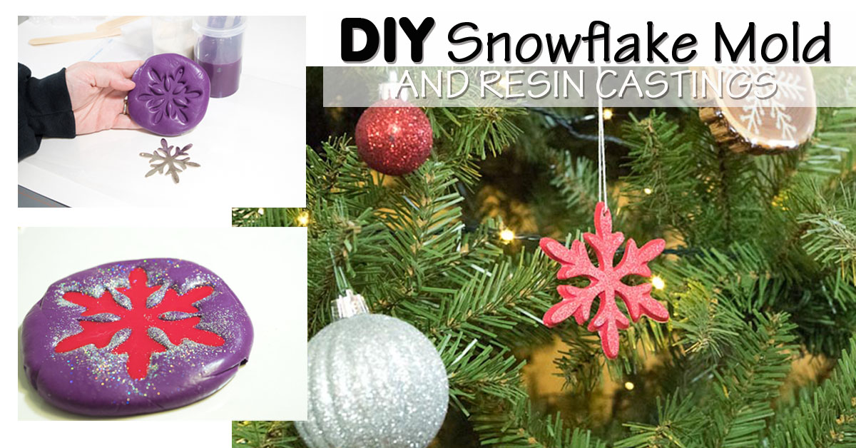 DIY Snowflake Silicone Mold Resin Christmas Decoration Candle Clay Soap Craft