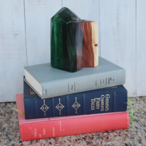 Geometric Crystal Resin Wood Bookend DIY