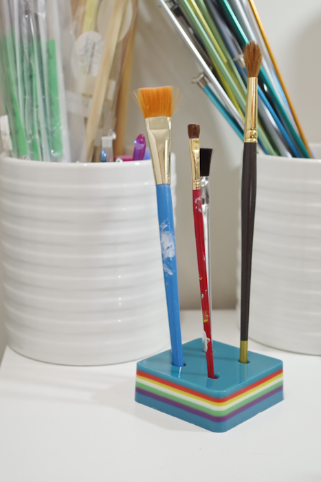 Layering Resin - DIY Pencil Holder- resin holder can be for paintbrushes as well