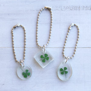 Four-Leaf Clover Resin Keychains