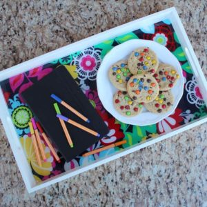 Fabric Resin Serving Tray DIY