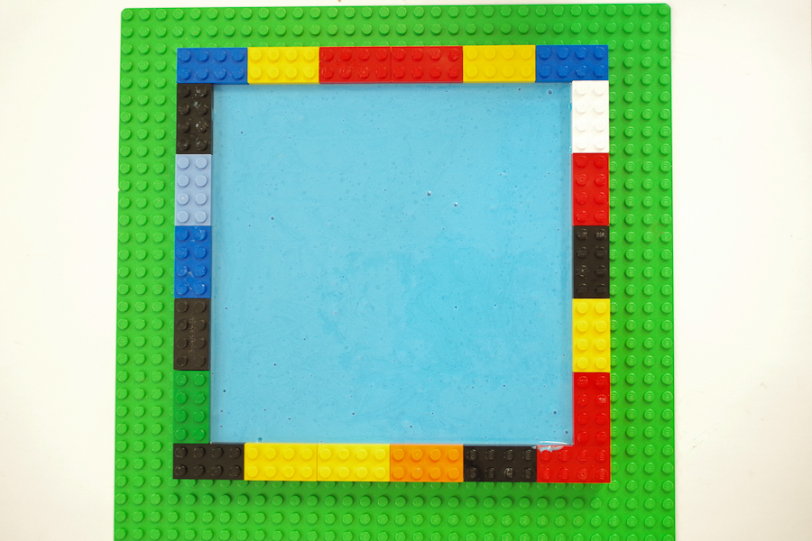 DIY Lego Mold using silicone rubber - Let cure for 24 hours