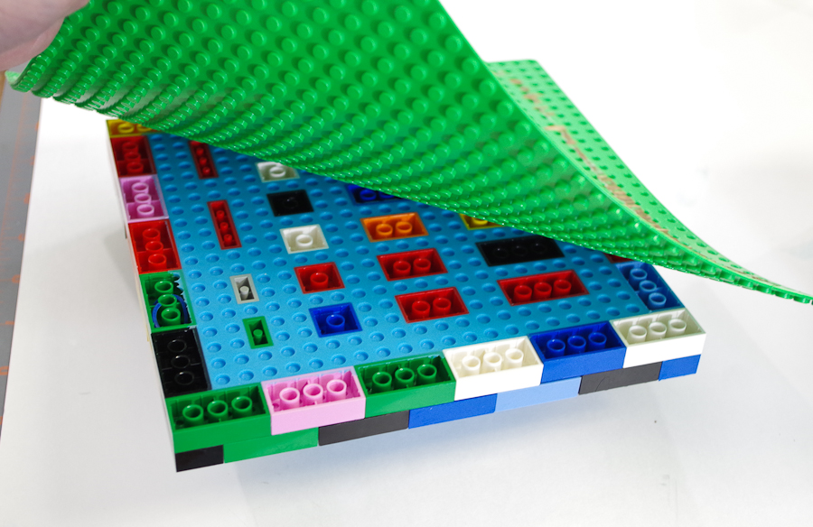 DIY Lego Mold using silicone rubber - remove the mold and form from the backing