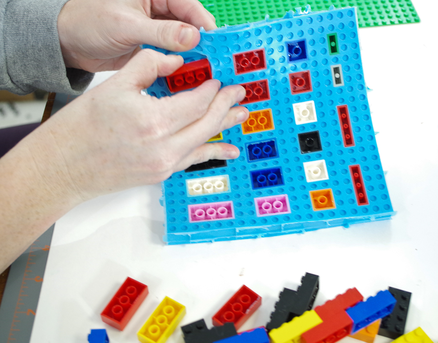 DIY Lego Mold using silicone rubber- Remove Legos from inner section of mold, it bends easily