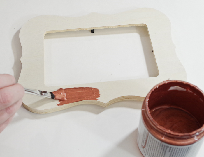 DIY Resin Coated Copper Picture Frame - paint frame