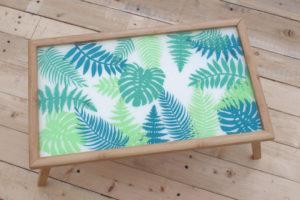 Tropical Leaf Resin Breakfast Tray