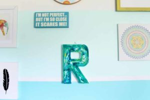 Marbled Monogram:  Adding Marbling with Resin