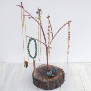 Gold Jewelry Resin Tree Hanger DIY