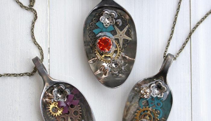 Trinket Spoon Jewelry Resin Necklace DIY