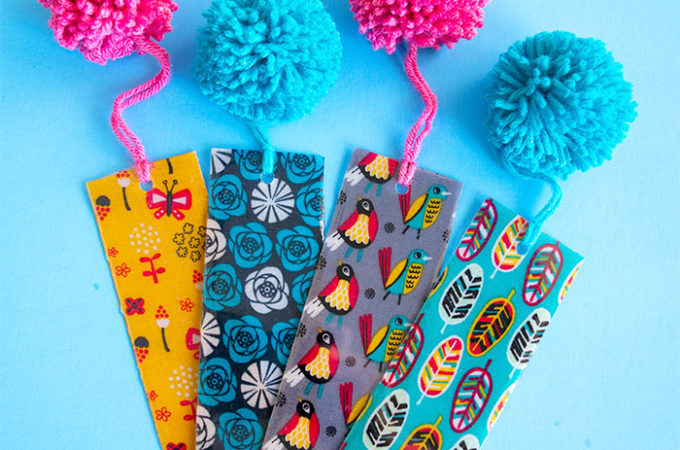 Resin Coated Fabric Bookmarks