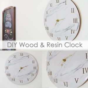 DIY Wood and Resin Clock