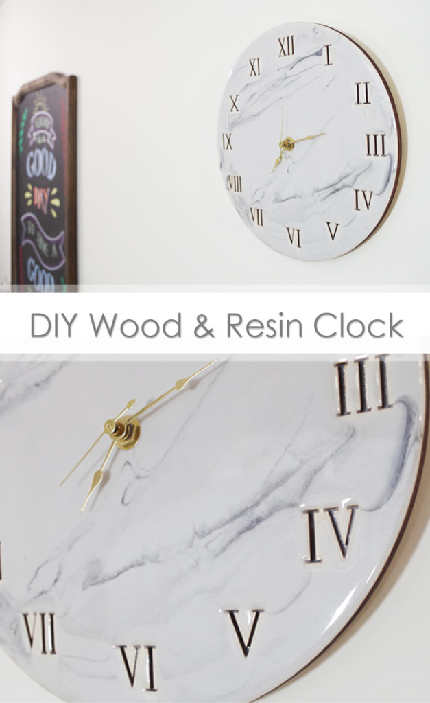 DIY Wood and Resin Clock Pinterest Image