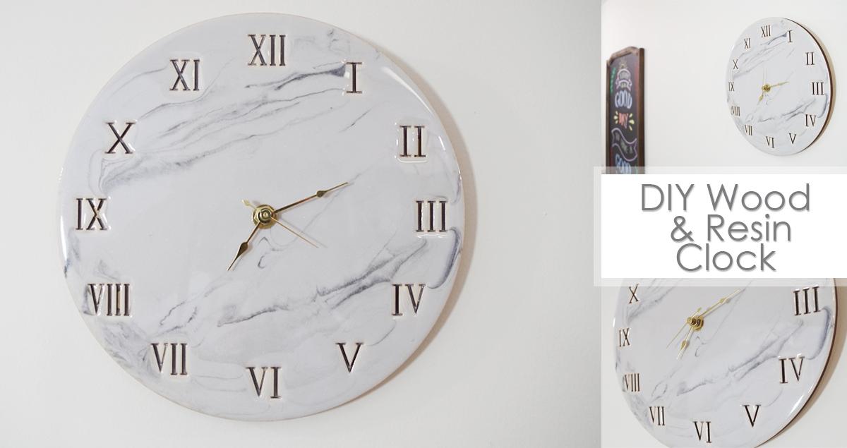 Diy Wood And Resin Clock Resin Crafts