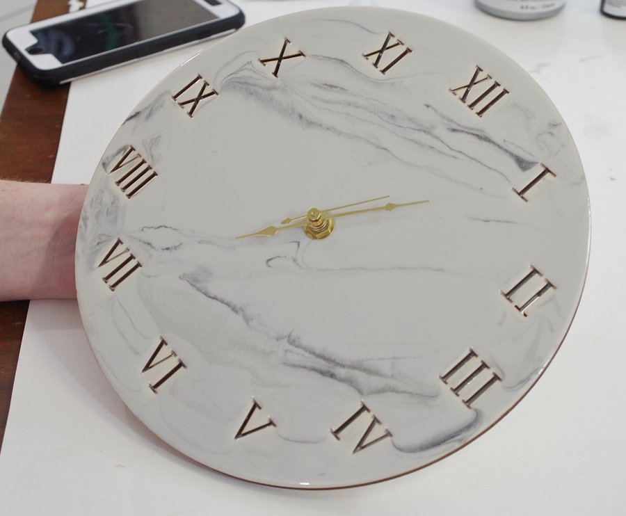 Wood and Resin Clock- put the clock together