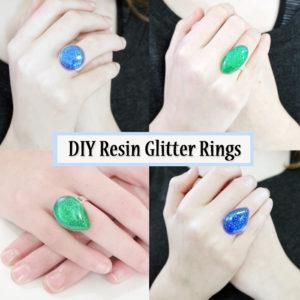 Resin Glitter Rings