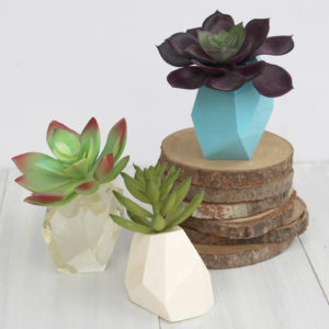 Geometric Resin Succulent Planters DIY